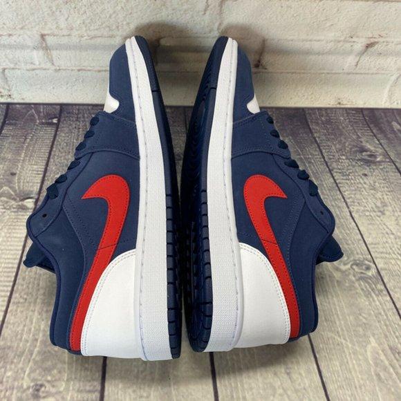 Nike Shoes Air Jordan 1 Low Se Navy Blue Red White Usa Poshmark